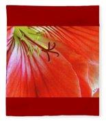 Glorious Geranium Fleece Blanket