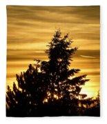 Glorious Guildford Sunset Fleece Blanket