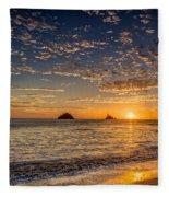Glorious Playa Sunset Fleece Blanket