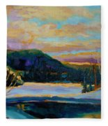Glorious Winter Sunrise Fleece Blanket