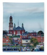 Gloucester Harbour Fleece Blanket