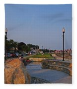 Gloucester Waterfront Gloucester Harbor Fleece Blanket