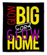 Glow Birthday Party Apparel Fleece Blanket