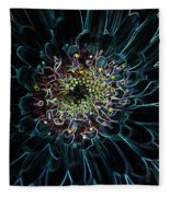 Glow Edge Flower Fleece Blanket
