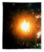 Glow Of Sun Through Pines Fleece Blanket