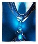 Glowing Blue Abstract Fleece Blanket