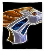 Glowing Bronco Fleece Blanket