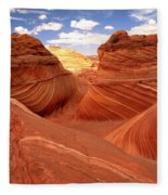 Glowing Butte At The Wave Fleece Blanket