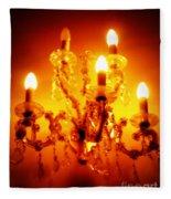 Glowing Chandelier Fleece Blanket