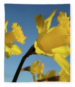 Glowing Daffodil Flowers Floral Art Baslee Troutman Fleece Blanket