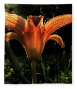 Glowing Day Lily Fleece Blanket