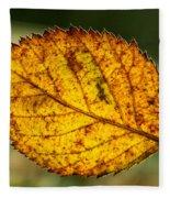 Glowing Fall Leaf Fleece Blanket
