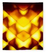 Glowing Honeycomb Fleece Blanket
