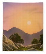 Glowing Landscape Fleece Blanket