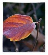 Glowing Leaf Fleece Blanket
