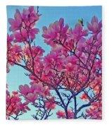 Glowing Magnolia Fleece Blanket