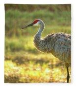 Glowing Marsh Sandhill Fleece Blanket