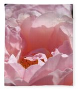 Glowing Pink Rose Flower Giclee Prints Baslee Troutman Fleece Blanket