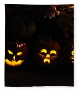 Glowing Pumpkins Fleece Blanket