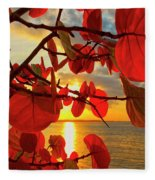 Glowing Red Fleece Blanket