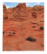 Glowing Sand In The Buttes Fleece Blanket
