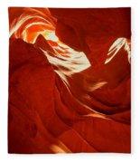 Glowing Sandstone Ledges Fleece Blanket