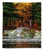 Glowing Tranquility Fleece Blanket