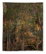 Glowing Trees Fleece Blanket
