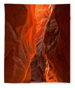 Glowing Walls Of Buckskin Gulch Fleece Blanket