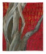 Gnarly Autumn Tree Fleece Blanket