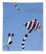 Go Fly A Kite Fleece Blanket