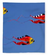 Go Fly A Kite Fleece Blanket