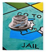 Go To Jail  Fleece Blanket