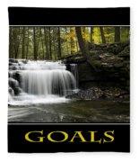 Goals Inspirational Motivational Poster Art Fleece Blanket