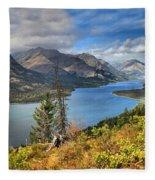 Goat Haunt Panorama Fleece Blanket