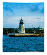 Goat Island Light House Fleece Blanket