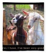 Goats Poster Fleece Blanket