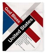 God Bless The United States Fleece Blanket