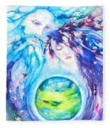 God, Goddess, Earth Ripple Effect Fleece Blanket
