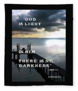 God Is Light Fleece Blanket