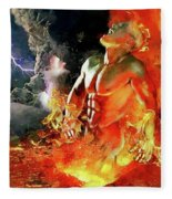 God Of Fire Fleece Blanket