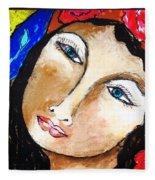 Goddess Bless Fleece Blanket
