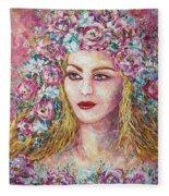 Goddess Of Good Fortune Fleece Blanket