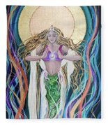 Goddess Of Intention Fleece Blanket