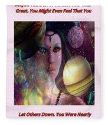 Goddess Of Planets Fleece Blanket