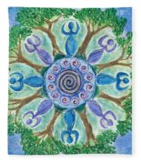 Goddesses Dancing Fleece Blanket