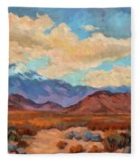 God's Creation Mt. San Gorgonio  Fleece Blanket