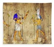 Gods Of Ancient Egypt Fleece Blanket