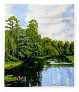 Going Down The St John's River Fleece Blanket