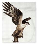 Going Fishin' Osprey Fleece Blanket